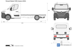 Renault Master SWB chassis