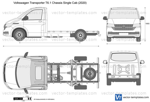 Volkswagen Transporter T6.1 Chassis Single Cab
