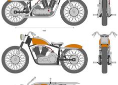 Harley Davidson XLR 883cc V-Twin