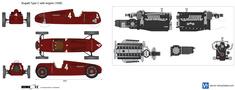 Bugatti Type C with engine