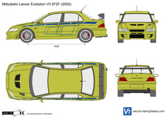Mitsubishi Lancer Evolution VII 2F2F
