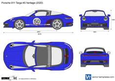 Porsche 911 Targa 4S heritage 992