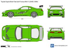 Toyota Supra Brian Fast and Furious Mk.IV JZA80