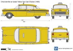 Chevrolet Bel air sedan Yellow Taxi Cab Checker