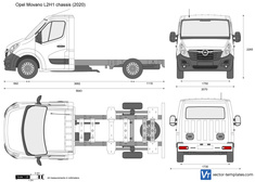 Opel Movano L2H1 chassis