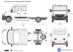 Opel Movano L2H1 chassis double cab