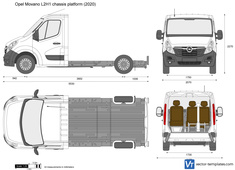 Opel Movano L2H1 chassis platform