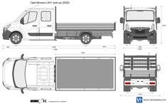 Opel Movano L4H1 pick-up