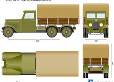 Polski Fiat 621 Truck Double Axle