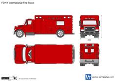 FDNY International Fire Truck